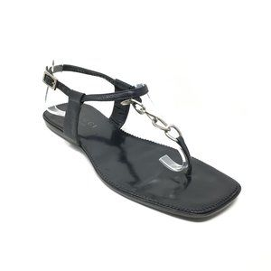 Gucci Strappy Sandals Shoes Size 5.5 US/35.5 Black